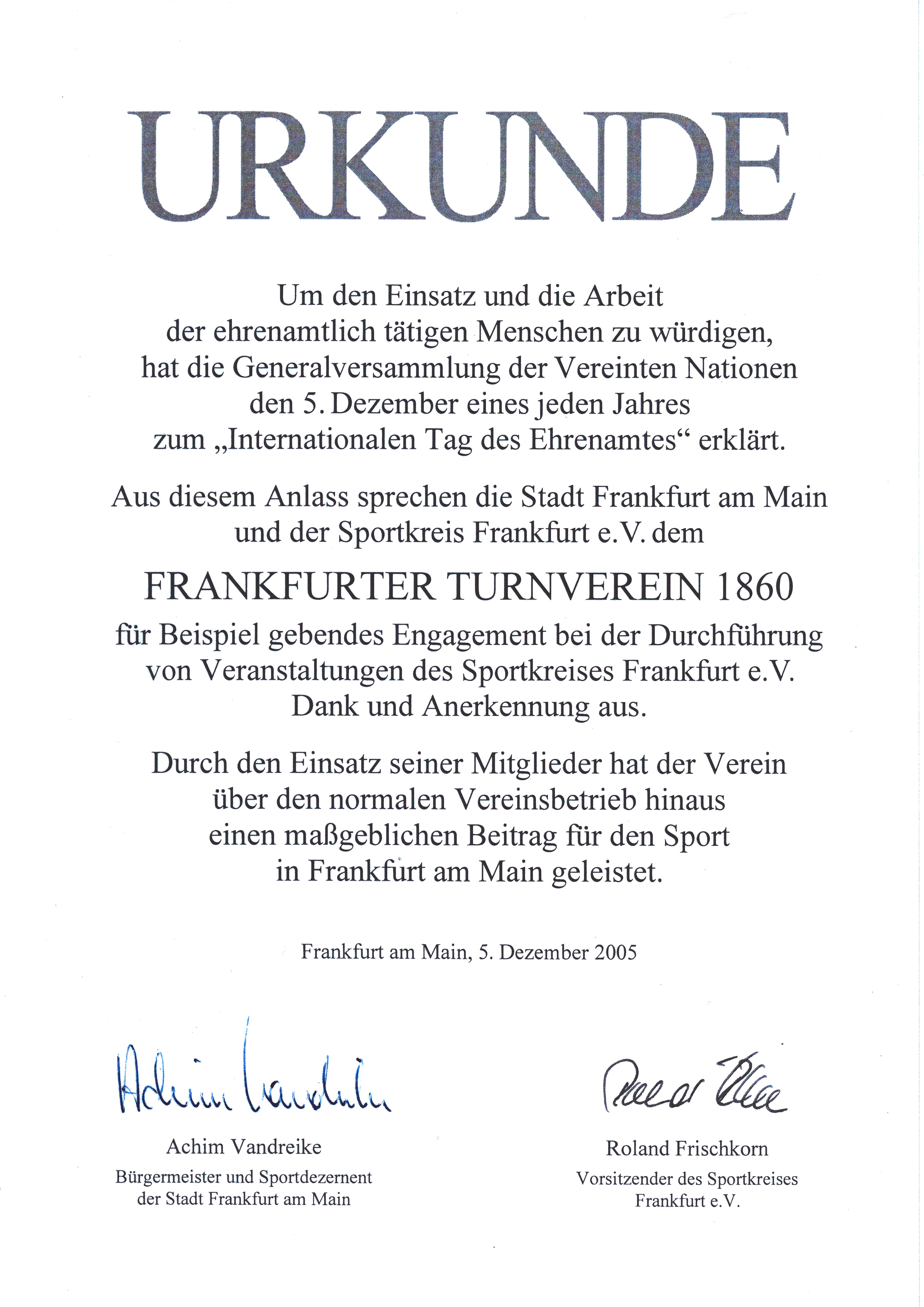 Urkunde Ehrenamtspreis-2005